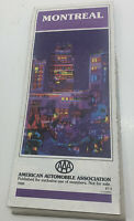Vintage Montreal Canada AAA Road Map