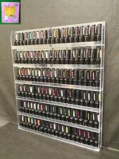 Acrylic Clear Nail Polish Wall Organizer Display Rack Fit 90 to 126 Bottles-USA