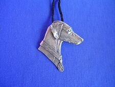 Smooth Saluki necklace #15D Pewter Dog Jewelry by Cindy A. Conter sighthound