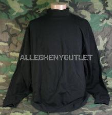 Mens Black 2XL Thermal Long Sleeve Underwear Shirt Mock Turtleneck XXL NEW