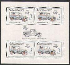 Czechoslovakia 1988 Mail Van/Motoring/Transport/History/StampEx 4v m/s (n35483)