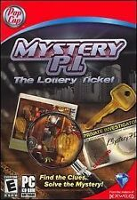 Mystery P.I. The Lottery Ticket POP CAP GAMES CD-ROM