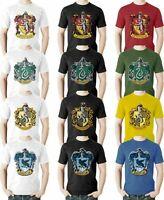 Harry Potter Hogwarts Houses T Shirt Gryffindor Quidditch Team Slytherin Crest