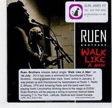 (EL276) Ruen Brothers, Walk Like A Man - 2013 DJ CD