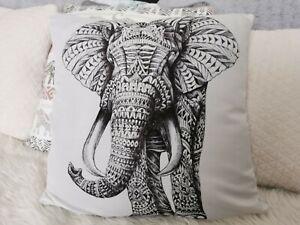 Elephant White Cushion Cover