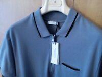 NWT 295 euro Versace  Medusa made in Italy grey zip polo shirt  L 40