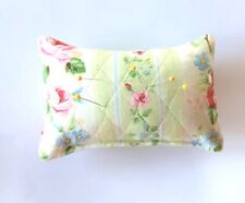 """Pin Cushion Quilted Fabric 100% Cotton Size: 6""""x4"""" Polyfill Stuffed"""