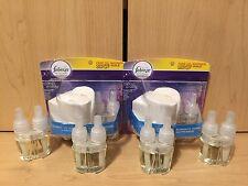 6 Febreze NOTICEables Refills Sleep Serenity MOONLIT LAVENDER & Warmer Units NEW
