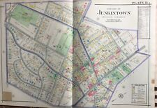 1916 Montgomery County, North Pa, Abington, Jenkintown Copy Plat Atlas Map