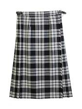 James Pringle Weavers Luxury Kilt Black White Tartan UK Size 14 TD092 PP 04