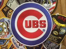 """Chicago Cubs patch emblem jersey MLB Home Logo 7"""" size iron on"""