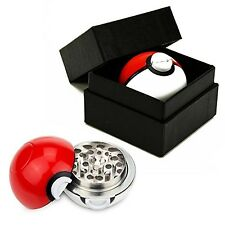 Pokemon Go Spice Grinder Tobacco Herb Mill Poke-Ball Aluminum 3 Pc Sharp Teeth