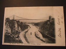 Postcard. St. Vincent Rocks, and Suspension Bridge, Bristol postmark 1902.