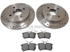 FORD FIESTA MK6 2.0 ST ST150 REAR DRILLED & GROOVED BRAKE DISCS AND MINTEX PADS