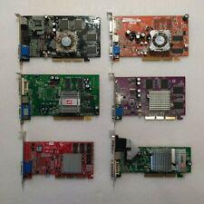 Lot of 6 VIDEO GRAPHICS CARD AGP #1: ATI Radeon, GeFORCE, 64 128 MB, 3D OEM Pcb