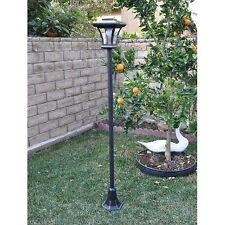 Outdoor Solar Lamp Post W/ Adjustable Height Yard Garden Patio Walkway LED Light