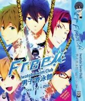 DVD Anime Free ! Iwatobi Swim Club Season 1+2+OVA English Dubbed + Free Shipping
