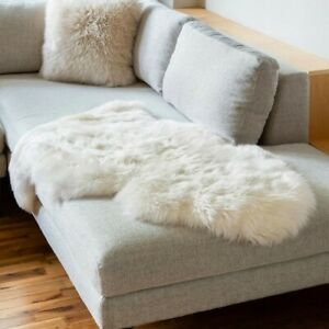 Genuine sheepskin rug - Ivory White Fur Sheep Skin Rug Throw Rug 2 x 3 Decor Rug