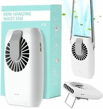 Portable Usb Rechargeable 3 Speeds 360 Degree Fan Hanging Dual Cooling Mini Fans