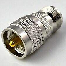 UHF Type Male PL259 Plug to N Female Jack Straight RF Coaxial Adapter Connector