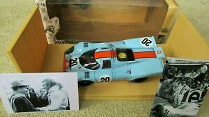 1:18 AUTOart Steve Mcqueen Mans Gulf Porsche 917K 2 Doigt Salut 2photos Aussi