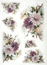 Rice Paper for Decoupage Decopatch Scrapbook Craft Sheet Vintage Chrysanthemum