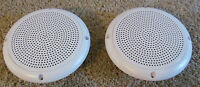 "2 RV Marine Camper White 5.25"" Recess Mount Speakers UV Protected Waterproof"