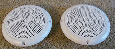 """2 RV Marine Camper White 5.25"""" Recess Mount Speakers UV Protected Waterproof"""
