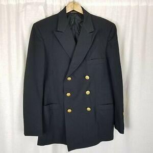 Patriot Leuchtturm Uniformen US Marine Seemann Kleid Blau Suit Jacke Herren 39R