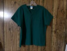 H.Q. Scrubs 2-Piece Huni Green Top Style 4777 & Pants Style 44100 Scrub Set Euc