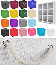 Faltbox 15 x 15 x 15 cm Aufbewahrungsbox Badezimmer Kiste Faltschachtel Korb