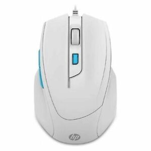 HP M150 Wired USB Gaming Optical Mouse 6 button, 1000/1600 Selectable DPI, White
