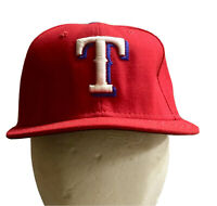 TEXAS RANGERS Official MLB Baseball Fitted On Field Cap 59Fifty Red New Era NWT