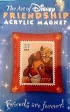 THE ART OF DISNEY FRIENDSHIP REFRIGERATOR MAGNET LION KING AND SIMBA