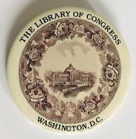 The Library Of Congress Washington DC Thomas Jefferson Pin Badge Rare (R7)