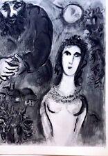Marc Chagall offset lithograph Bible  paris maeght 1960 original  2 sided 107