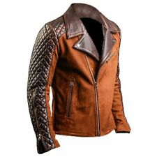 Mens Retro Style Brown Leather Jacket