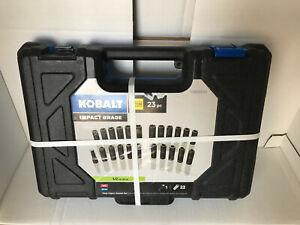 "Kobalt 23 PC Standard SAE Metric Combination 1/2"" 6-Point Deep Impact Socket Set"
