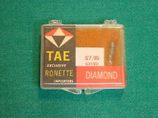 1960's TAE, Ronette Diamond Stylus Assembly for GE VR, LP/33/45 RPM Records