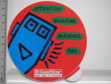 Adesivo sticker GOLDSTAR-AUDIO-VIDEO TV computer (s1336)