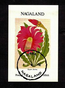 Nagaland India 1972 Miniature Sheet MNH CTO Flower Nature Conservation   <A553>