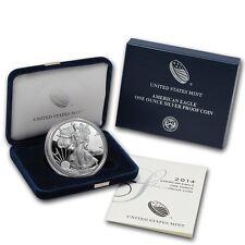 2014 American Silver Eagle Proof 1 Oz Coin W/Box & COA