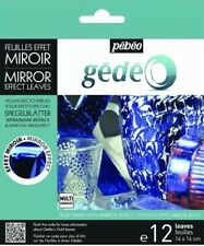 Pebeo Gedeo Mirror Effect Leaf 12 Sheet Pack - Blue Brand New!