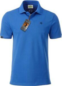 JAN 8010 Bio Baumwolle Basic Polo Shirt Organic COMPANIEER Blau Cobalt Herren ..