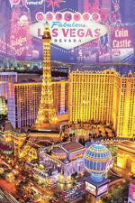 Fabulous Las Vegas Poster Travel Scenic Tourist, 24x36