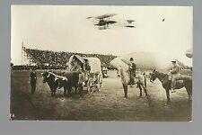 Los Angeles CALIFORNIA RP 1910 AIRSHOW Airship Airplane COWBOYS Zeppelin Crowd