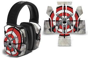 Sticker Wrap Decal  Fits: Howard Leight Impact Noise Ear Shooting Muffs BULLSEYE