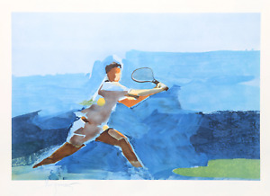 Stephen Kuzma, Tennis, Lithograph, signed and numbered in pencil