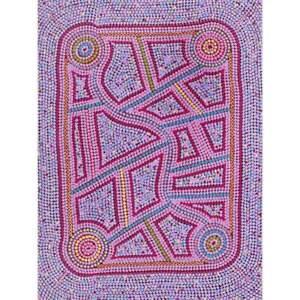 Aboriginal Art - Ngapa Jukurrpa 61 x 46cm