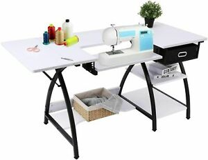 Sewing Craft Table Folding Computer Desk Sewing Machine Adjustable